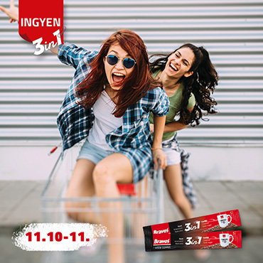 Bravos 3in1 kóstolás november 10-11. Auchanokban